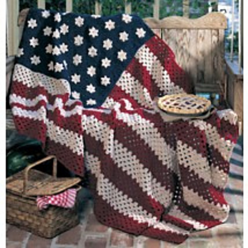 Ravelry All American Afghan Pattern By Linda Luder