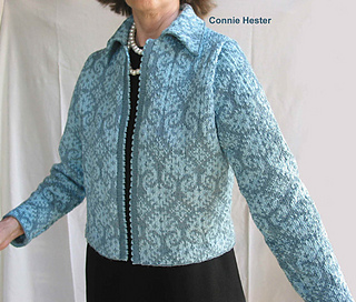 1eac785b18cf Ravelry  Jacquard Knit Jacket pattern by Connie Hester