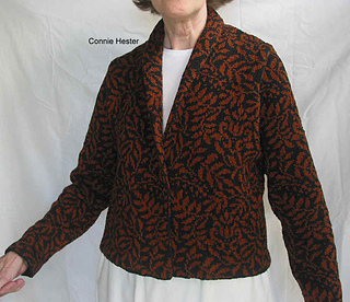 1c0253126cea Ravelry  Stranded Shawl Collar Jacket pattern by Connie Hester