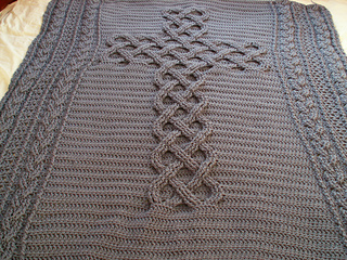 Ravelry Chunky Celtic Cross Cable Afghan Blanket Throw Pattern