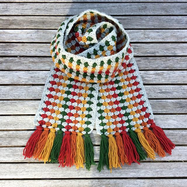 Ravelry Super Granny Scarf Pattern By Cotton Pod