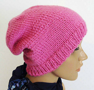 6a5b2552 Pink Slouchy Beanie pattern by Tina Dineen