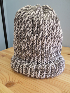 f6ddfafb Ravelry: Easy Loom Knitted Hat With A Brim pattern by Crafting With Claudie