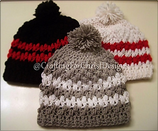 99730e646 Ravelry: B's Mini Puff Hat pattern by Crafting ForChrist Designs
