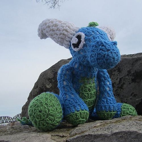 Spyro the Dragon. Amigurumi. - Imgur   500x500