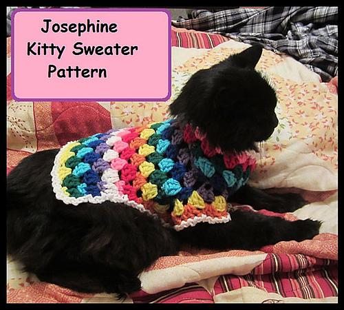 Ravelry Josephine Kitty Cat Or Small Dog Crochet Sweater Pattern