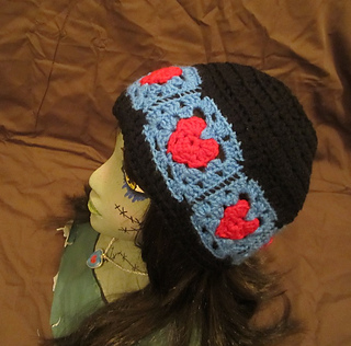Ravelry  Head Over Heels Granny Square Heart Beanie pattern by Starling 96ca70a6a62