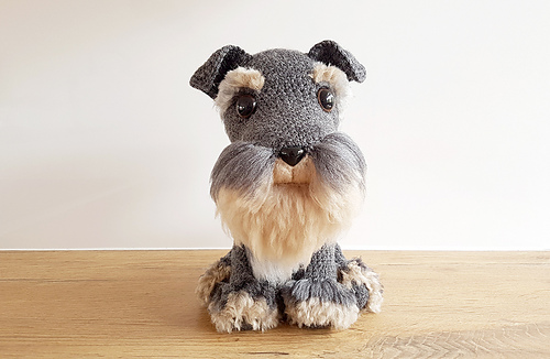 Ravelry: Schnauzer Dog with DIY fur pattern by Projectarian