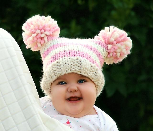 88799e9ab8b patterns   Creatiknit Woodland Designs.   Baby Jester Pom Pom hat