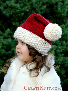 Ravelry  The Santa Cutie Hat pattern by CreatiKnit be7402c9504