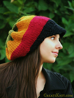 Ravelry  Rasta Slouch Hat with or without brim pattern by CreatiKnit 7f0e84aaa34