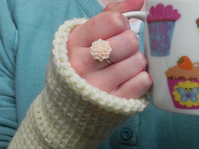 Ravelry Simple Beginners Tunisian Crochet Fingerless Gloves Pattern