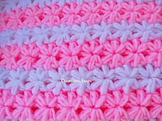Ravelry Star Couch Puff Baby Blanket Stitch Pattern By