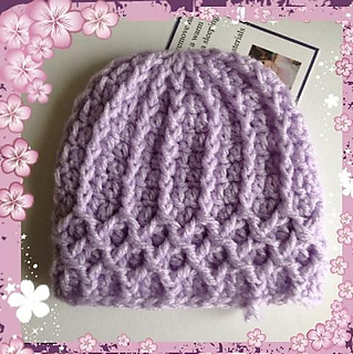 e04b5a5dac607 Ravelry: Lattice Preemie Hat pattern by Julee Fort