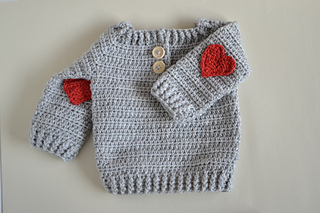 f9306c1b6 Ravelry  Crochet Baby Sweater - RED HEART pattern by Croby Patterns