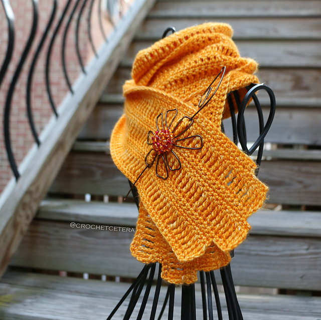 Indie Design Gift Along 2018 Cowl and Scarf crochet scarf