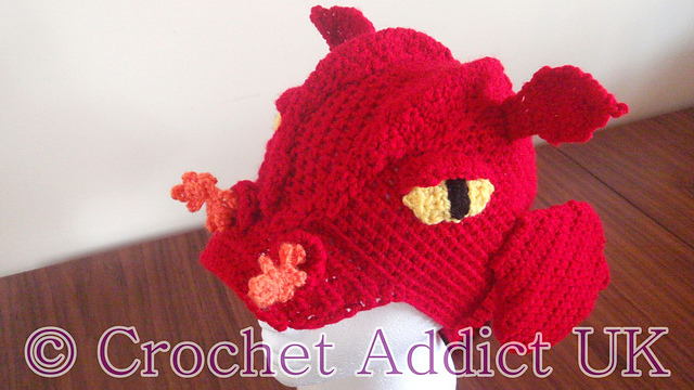 Ravelry Dragon Hat 1 Yr Pattern By Crochet Addictuk