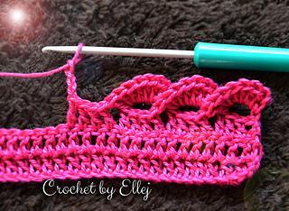 Ravelry Pink Wave Edge Tutorial Pattern By Elena Kozhukhar