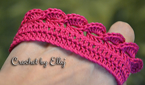 Ravelry Pink Wave Edge Tutorial Pattern By Elena Kozhukhar