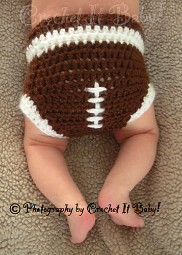 Ravelry Football Hat And Diaper Cover Set Pattern By Crochet It Baby