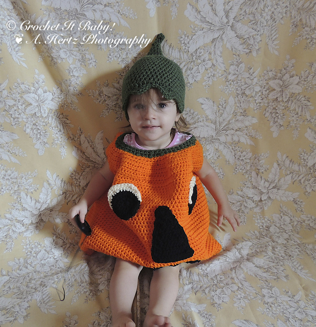 Ravelry Pumpkin Halloween Costume u0026 Hat (Age 1-3 years) pattern by Crochet It Baby  sc 1 st  Ravelry & Ravelry: Pumpkin Halloween Costume u0026 Hat (Age 1-3 years) pattern by ...