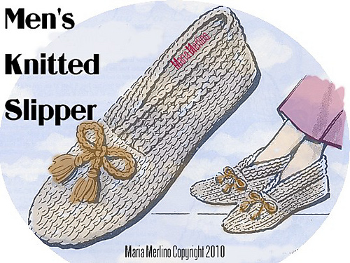 Ravelry Mens Knitted Slippers Pattern By Maria Merlino