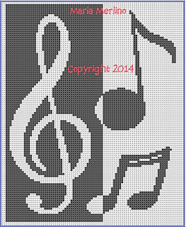 Ravelry Musical Notes And Clef Afghan Chart With
