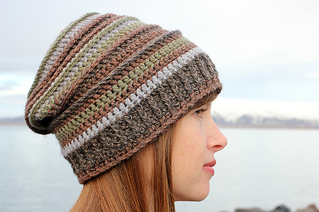 Ravelry Stripes Slouchy Hat Pattern By Jessica A Chong