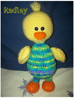 crochet rox store patterns radley the duck