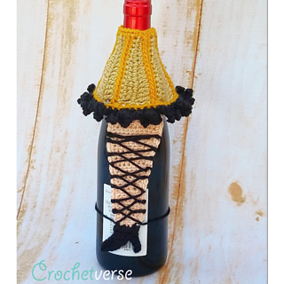 ravelry leg lamp christmas story wine bottle cozy sweater pattern by stephanie pokorny - Leg Lamp From The Christmas Story