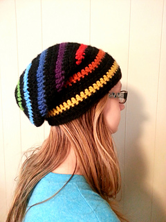 f153bd45dce Ravelry  Rainbow Slouchy Beanie Hat pattern by Evonne Umbel