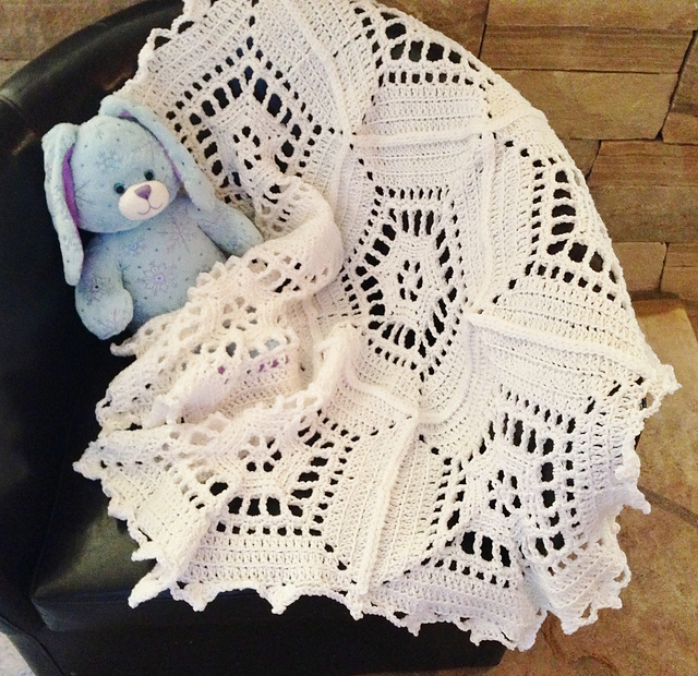 Ravelry The Snowflake Baby Blanket Pattern By Tara Cousins