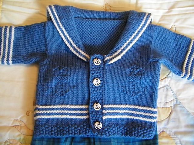 Ravelry Little Sailor Baby Cardigan Pattern By Jenny Snedeker