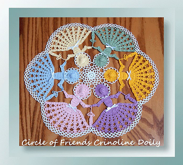 Ravelry 0555 Circle Of Friends Crinoline Doily Pattern By Cylinda D