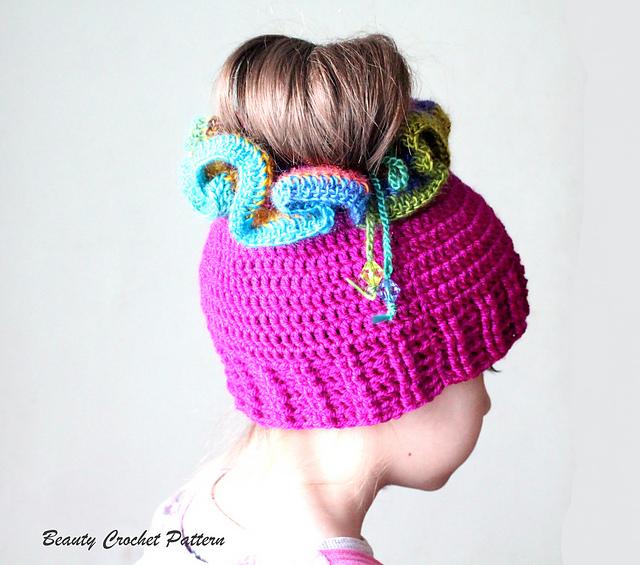 Top Ravelry  Messy Bun Hat pattern by Beauty Crochet Pattern MJ54 c62a4df7e3d0