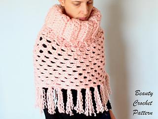 Ravelry Easy Chunky Poncho Pattern By Beauty Crochet Pattern