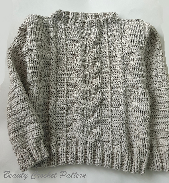 Ravelry Cables Sweater Pattern By Beauty Crochet Pattern