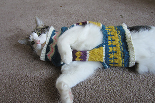 Ravelry: Fair Isle Cat Sweater pattern by Margot Massoni