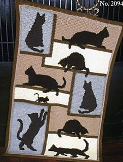 Ravelry: Cat Silhouette Afghan pattern by Mary Maxim
