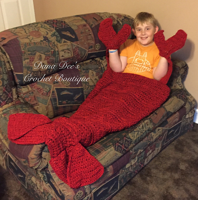 Ravelry Thick And Fluffy Lobster Crawfish Blanket Pattern By Dana