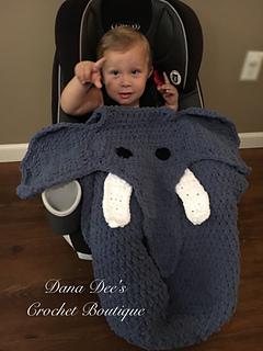 Ravelry Baby Elephant Car Seat Blanket Pattern By Dana Draves