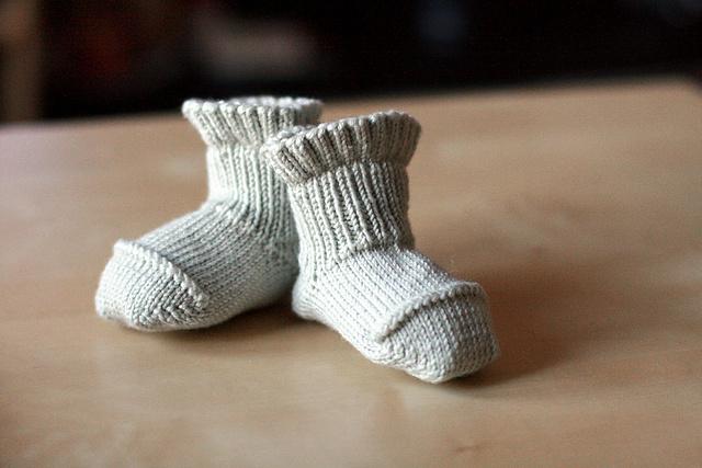 Ravelry: Better-Than-Booties Baby Socks pattern by Ann Budd