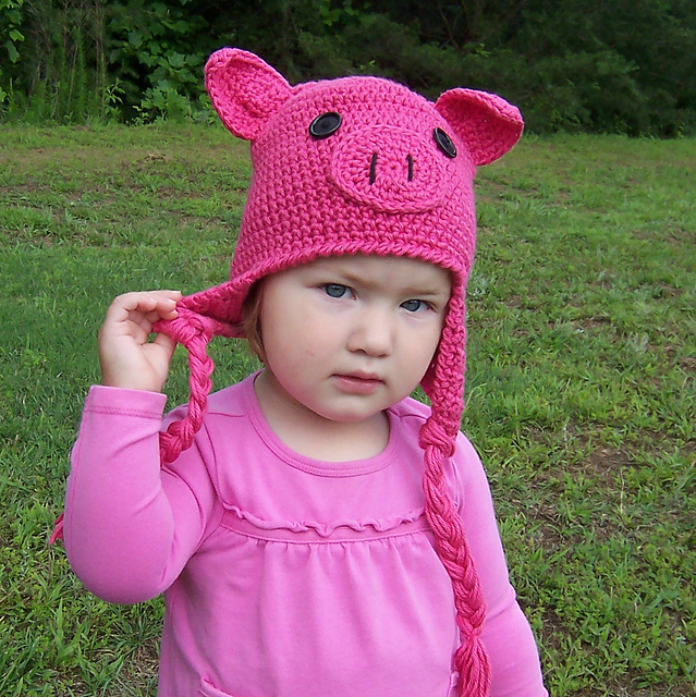 Ravelry: Oink! Oink! Pig Hat with or without Earflaps pattern by ...