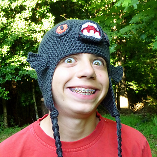 ae4897c3dde Ravelry  Black Piranha Monster Fish Hat pattern by Darleen Hopkins
