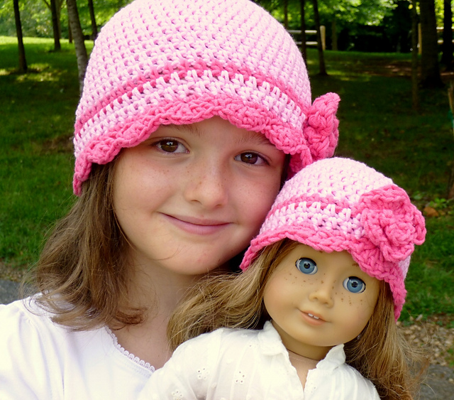 Ravelry Waiting For Spring Flapper Hat With Rose Pattern By Darleen