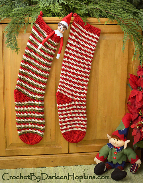 Ravelry Elf Socks Christmas Stocking Pattern By Darleen Hopkins