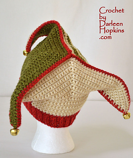 Ravelry: Silly Court Jester / Elf Hat Crochet pattern by Darleen Hopkins