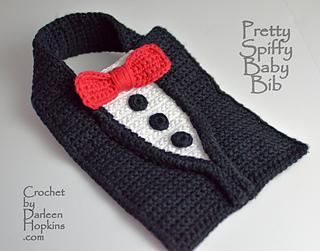 Pretty Spiffy Tuxedo Baby Bib Pattern By Darleen Hopkins Ravelry