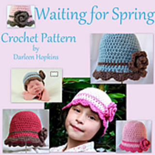0c273eccd7d Ravelry  Waiting for Spring Flapper Hat with Rose pattern by Darleen ...