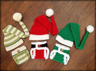 8bbf60eb8 Ravelry  Santa   Elf Diaper Cover and Hat Set pattern by Deborah O Leary